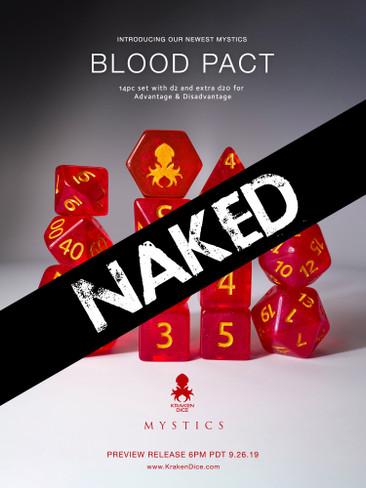 Blood Pact 14pc Naked Dice Set With Kraken Logo