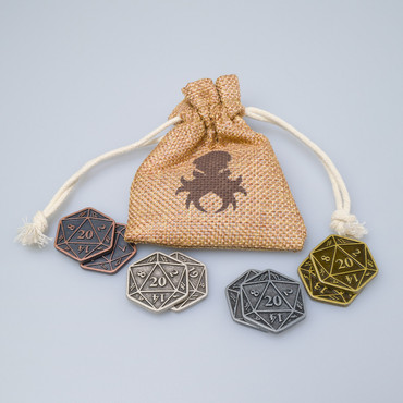 8pc D20 Inspiration Coin Set