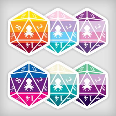 Mythical Iconic Sticker Pack 1 Kraken Logo D20 Stickers
