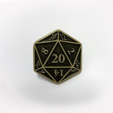 D20 Pin Brass