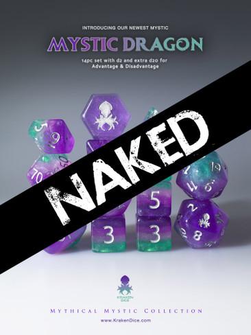 Naked Mystic Dragon 14pc Dice Set With Kraken Logo