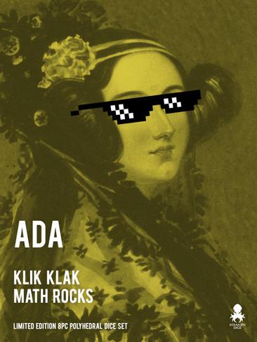 Ada: Klik Klak Math Rocks Limited Edition 8pc Polyhedral Dice Set