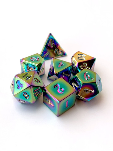 Rite of Flame 10mm Metal Dice Set for RPGS