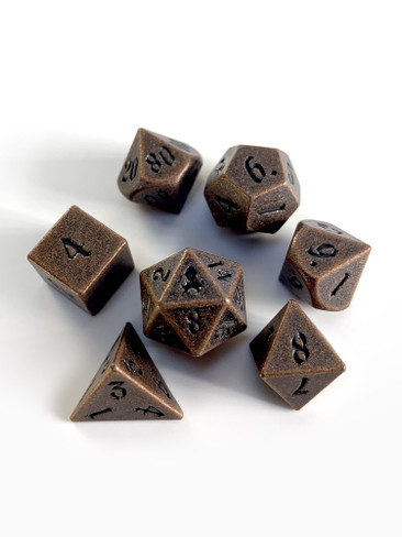 Mini Rite of Copper 10mm Metal Dice Set for RPGS