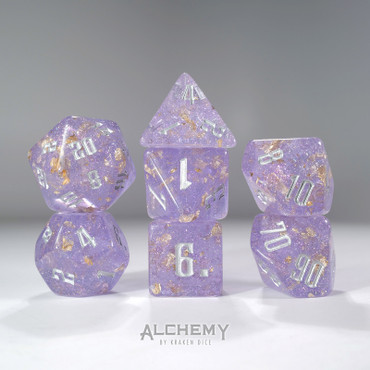 7pc Fragments of the Sun Glitter Lilac with Silver Ink
