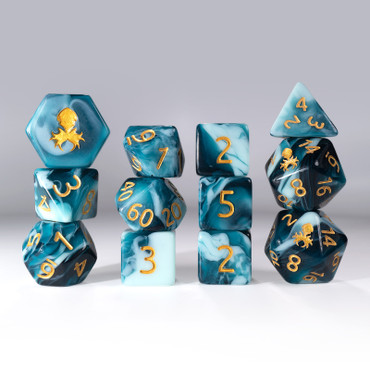 12pc Gummi Shark Polyhedral Dice Set