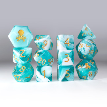 12pc Gummi Baby Shark Do Do Do Do Polyhedral Dice Set