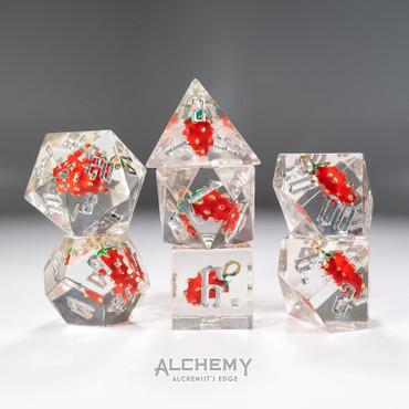 7pc Alchemist's Edge Strawberry by Alchemy Dice