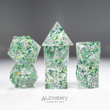 7pc Alchemist's Edge Green Fragments by Alchemy Dic