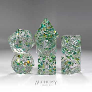 7pc Green Fragments by Alchemy Dice