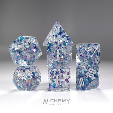 7pc Blue Fragments by Alchemy Dice