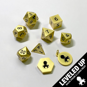 Dwarven Satin Gold Metal Dice Set