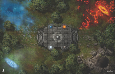 Kraken Dice RPG Encounter Map Quick Mat- Elemental Forest by MapHammer