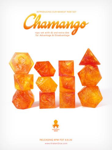 Kraken's RAW Chamango Rock Candy 12pc Polyhedral Dice Set