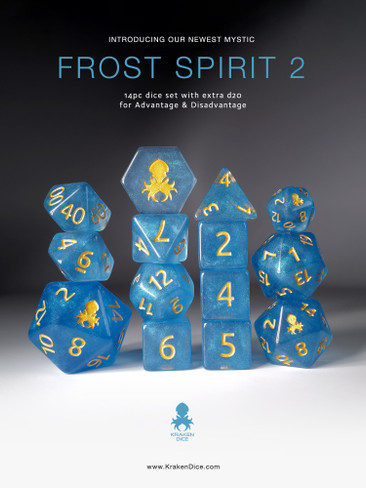 Frost Spirit 2 Mystics 14pc Dice Set
