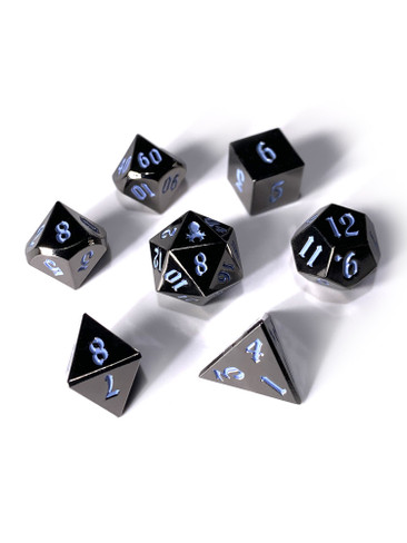 Mini Djinn's Dark Rite 10mm Metal Dice Set for RPGS