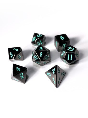 Mini Kraken's Dark Rite 10mm Metal Dice Set for RPGS
