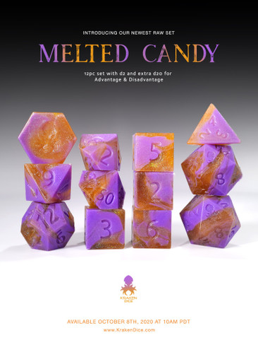 Melted Candy RAW 12pc RPG Dice Set