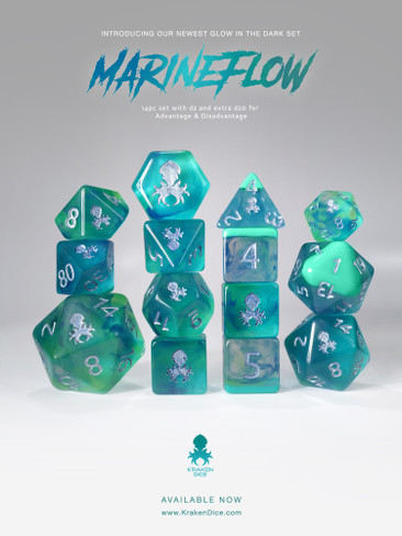MarineFlow: Lava Lamp 14pc Limited Edition Dice Set