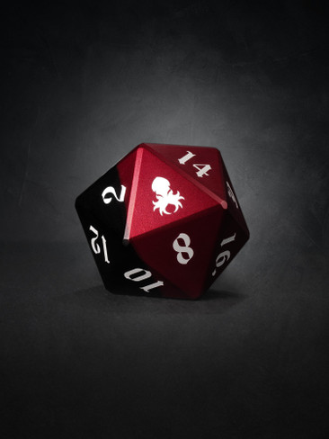 Vulcan: Blood Knight 50mm Black and Red Precision Aluminum Single D20