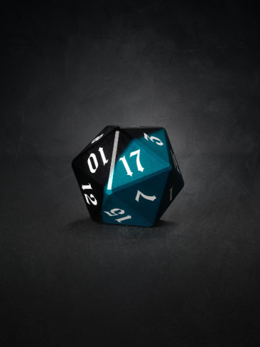 Vulcan: Azure Knight 30mm Black and Blue Precision Aluminum Single D20