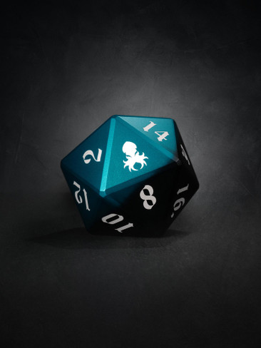 Vulcan: Azure Knight 50mm Black and Blue Precision Aluminum Single D20