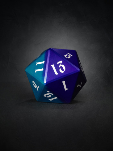 Vulcan: Dragon Knight 50mm Blue and Purple Precision Aluminum Single D20
