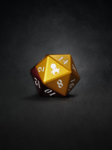 Vulcan: Rust Knight 30mm Orange and Red Precision Aluminum Single D20