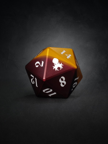 Vulcan: Rust Knight 50mm Orange and Red Precision Aluminum Single D20