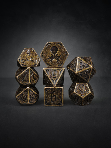 Rite of Brass 8pc TTRPG Dice Set