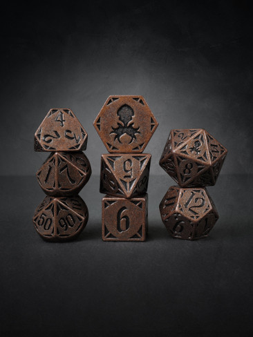 Rite of  Copper 8pc TTRPG Dice Set