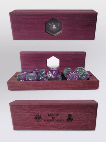 Kraken's Oracle Purpleheart Dice Vault by Master Monk
