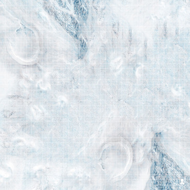 "Kraken Dice RPG Encounter Map Quick Mat- Frozen Snow Field 36""x36"""