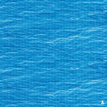 """Kraken Dice RPG Encounter Map Quick Mat- Deep Blue Sea 36""""x36"""""""