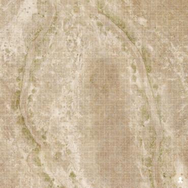 """Kraken Dice RPG Encounter Map Quick Mat- Arid Desert 36""""x36"""""""