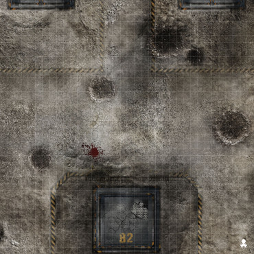 "Kraken Dice RPG Encounter Map Quick Mat- Battle Zone 36""x36"""