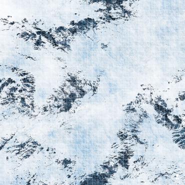 """Kraken Dice RPG Encounter Map Quick Mat- Winter Pass 36""""x36"""""""