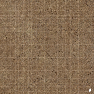 "Kraken Dice RPG Encounter Map Quick Mat- Cracked Earth 36""x36"""