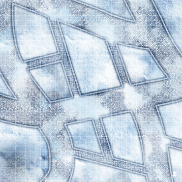 "Kraken Dice RPG Encounter Map Quick Mat- Snow Covered Cobblestone Streets 36""x36"""