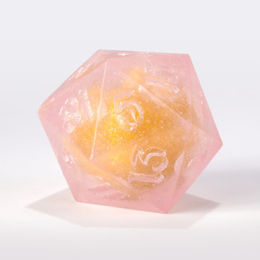 RAW Pink with Gold Liquid Core Single D20