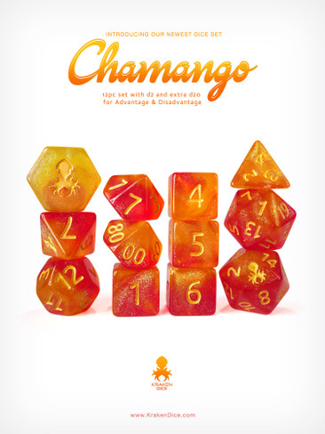 Kraken's Chamango Rock Candy 12pc Polyhedral Dice Set