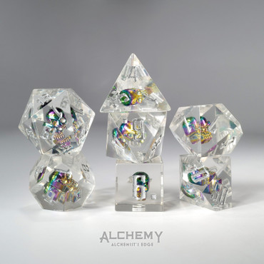 7pc Alchemist's Rainbow Skulls Portal by Alchemy Dice