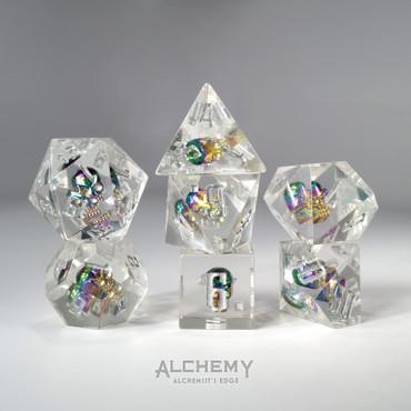 7pc Alchemist's Rainbow Skulls Portal by Alchemy Dice