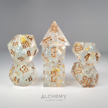 7pc Alchemist's Rainbow Glitter with Copper Ink by Alchemy Dice