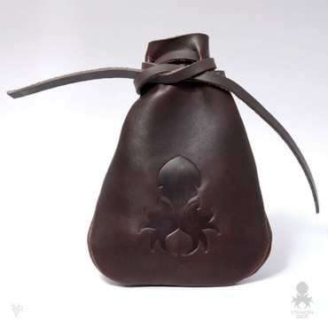 Brown Leather Dice Bag