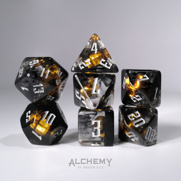 7pc Hidden Skulls with silver ink by Alchemy