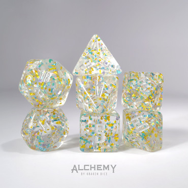 Gold and Blue Fragments by Alchemy Dice