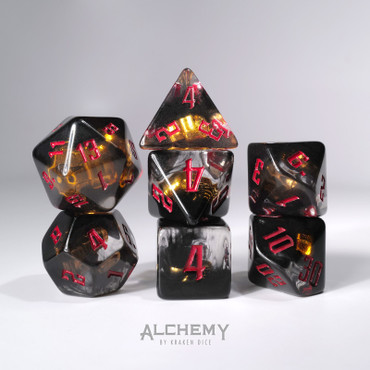 7pc Hidden Skulls with red ink by Alchemy