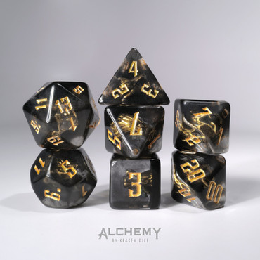 7pc Hidden Dragon Spirit with gold ink by Alchemy