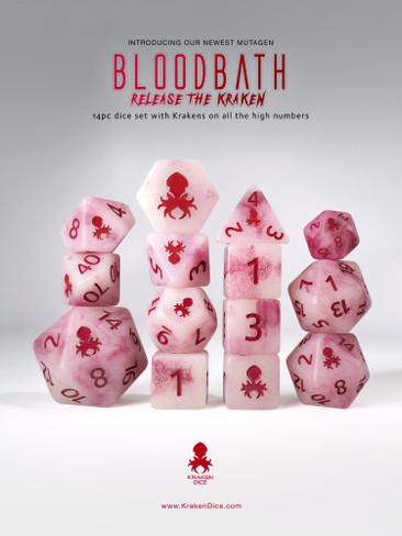 Bloodbath: Release the Kraken 14pc Glow in the Dark Kraken Logo with RED Ink for RPGs